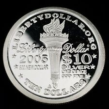 2005 Norfed American Liberty 1ozt .999 Fine Silver Bullion Round Coin ^NF0532