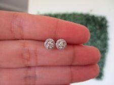 ".20 CTW Diamond Earrings 18k White Gold E374 / E12 sep ""SP"""