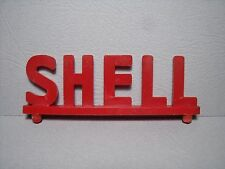 ENSEIGNE  SHELL   ENTRAXE  68 MM  GARAGE  STATION  SERVICE  JOUETS  VROOM  1/43