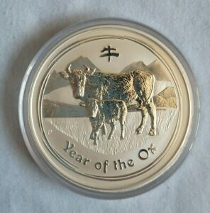 2009 5 oz Silver Perth Mint Year of the OX - low mintage