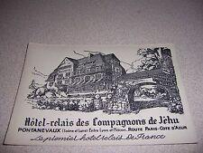 1930s HOTEL RELAIS des COMPAGNONS de JEHU PONTANEVAUX FRANCE ANTIQUE POSTCARD