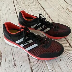 Adidas Adizero Boston Boost Black Coral Mens Running Shoes Size 12 B33482