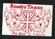 Dated 1985 Illustrated QSL Card: DX Card, Crewe