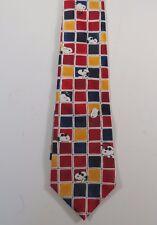 "Peanuts SNOOPY AND FRIENDS Tic Tac Joe Cool Silk Necktie - 56 1/2"" long"