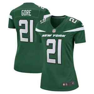 Brand New 2021 NFL Frank Gore New York Jets Nike Women's Game Player Jersey NWT
