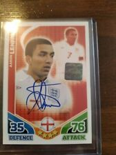MATCH ATTAX ENGLAND WORLD CUP 2010 AARON LENNON 1/1000 HAND SIGNED HOLOGRAM