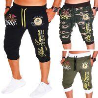 Herren Bermuda Short Shorts Capri kurze Hose 3/4 Camouflage Sommer Damen Neu
