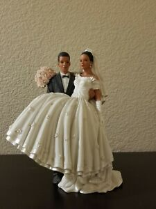 Lillian Rose Hand Painted Porcelain Bride and Groom African American