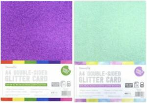 A4 Dovecraft Premium Quality Double Sided 350gsm Glitter Card Arts and Crafts