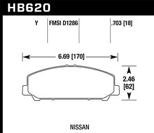 Disc Brake Pad Set Front Hawk Perf HB620Y.703