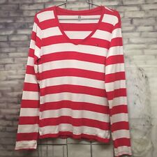 Tommy Hilfiger Women's Long Sleeve V Neck Casual Top- Size L