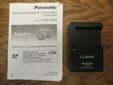 Battery Charger DE-A83 and Operating Instructions for Lumix Panasonic DMC-FZ40