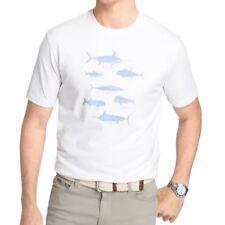 Izod Men's S/S T-Shirt Swordfish Tarpon Tuna Marlin Print Bright White Size L