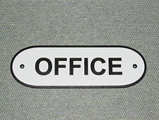 OFFICE Door Wood Sign Black & White