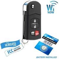 Car Flip Key Fob Keyless Entry Remote For 2010 2011 2012 2013 Mazda 3