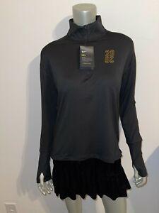 NIKE NWT Arcadia Invitational 2020 Black 1/4 Zip Pullover Shirt Jacket sz XS $70