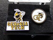 VINTAGE Georgia Tech PIN & GOLF BALL MARKER LOGO  2Pc Lot  W/CASE