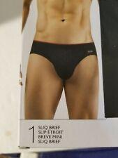 2(X)IST 2xist Men's Sliq Micro Low Rise Brief Underwear Black Size L