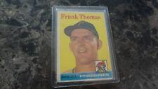 1958 TOPPS # 409 FRANK THOMAS    BASEBALL  CARD