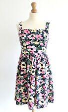Floral Dress Size 12 Summer Printed Festival Pink White Patterned Skater