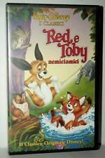 RED E TOBY NEMICIAMICI FILM USATO BUONO STATO VHS VERSIONE ITALIANA GS2 42600
