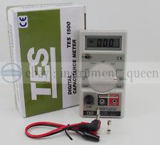 TES1500 Capacitance Tester Meter up to 20mF 20000uF TES-1500 !!NEW!!