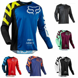 Men's FOX Racing Jerseys Long Sleeve Off-Road Motocross Mountain Bike Clothing