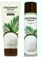 Bath & Body Works Coconut Palm Body Cream & Fragrance Mist Set New Free Shipping