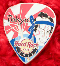 Hard Rock Cafe Pin TOKYO Postcard GUITAR PICK Series NINJA SAMUAI SWORD MASK LE