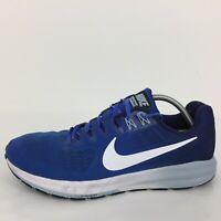 Nike Zoom Structure 21 Blue Textile Run Trainer 904695-402 Men UK 12 Eur 47.5