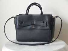NWT $379 KATE SPADE NATALA AVALON PLACE PEBBLED LEATHER BLACK SATCHEL WKRU3942