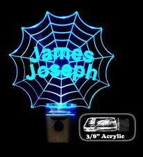Spiderman Web Night Light LED, Personalized,  Handmade Kids Lamp,  bedroom