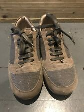 BRUNELLO CUCINELLI suede low-top trainers RRP £978 Size UK 7 Now £119.90