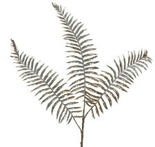 Blush Pink Metallic Finish Fern Spray Stem Christmas Tree | Florist Decoration