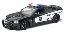 "NewRay Dodge Charger Pursuit Police 1:24 scale 8"" diecast model car Black"