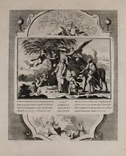 1728 Kupferstich Bibel Biblia Rückkehr aus Ägypten Heilige Familie