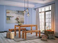 Essgruppe Esstisch Bank Rio Kanto Holz Pinie massiv Tisch 140x90 + 2 x Bank 140