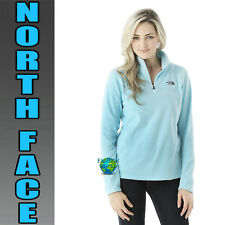 The North Face Women's Size Large 100 GLACIER 1/4 Zip Fleece Tofino Blue NWT