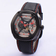 46mm Corgeut Black PVD Case Gray Dial Red hands  Miyota Automatic WATCH CA2009PR