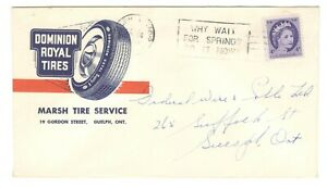 1960 Canada - Guelph, Ontario Slogan Cancel Cover - Dominion Tires Advertising