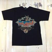 CANNON AFB - NWOT Vtg 90s Black Southwest Design US Air Force T-Shirt, MEDIUM