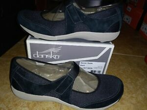 NEW $100 Womens Dansko Hennie Suede Black Mary Jane Shoes, size 9.5 - 10 (EU 40)