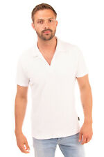 RRP €175 ERMENEGILDO ZEGNA Terrycloth Polo Shirt Size L Slit Sides Made in Italy