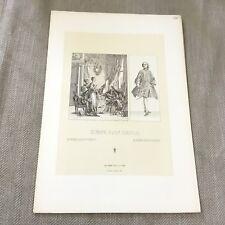Antique Fashion Print European 18th Century Historical Costume Racinet