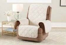 Sure Fit® Triple Protection Recliner Furniture Cover cream
