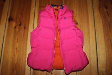 RALPH LAUREN wendbare pink orange Daunenweste Daunenjacke Gr. 110 5 Weste