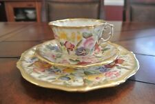 Hammersley Queen Anne Trio Cup, Saucer and Dessert Plate.