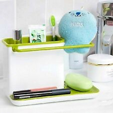 Kitchen Brush Sponge Sink Suction Cup Base Draining Towel Rack Washing Holder