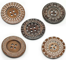 10 New 4Holes Wood Big Sewing Buttons for Sweater Overcoat 6cm B19216