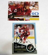 Lot (2) Oliver Ekman-Larsson Hand Signed On Card Auto - Phoenix Coyotes